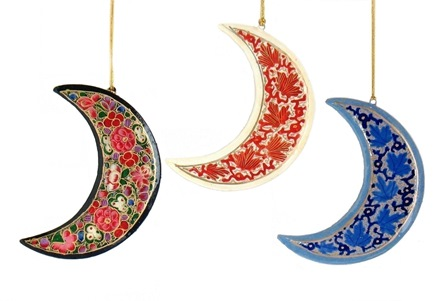 Kashmir Moon Ornament