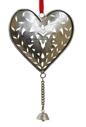 Metal Cutwork Heart with Bell