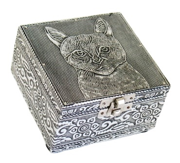 Metal Embossed Cat Box