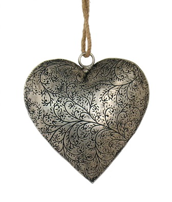 Metal Etched Heart