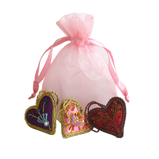 Mini Heart Ornament Set