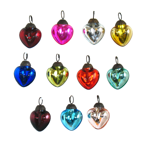Mini Heart Ornament by Color