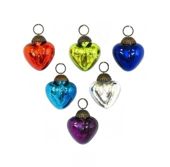 Mini Heart Ornament  Assortment