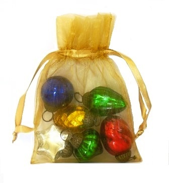 Mini Holiday Glass Ornament Gift Set