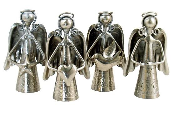 Mini Silver Angel Bells