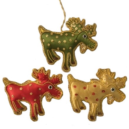 Moose Ornament Assorted