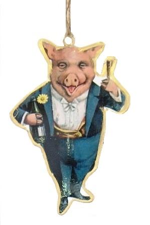 NY Eve Pig Ornament