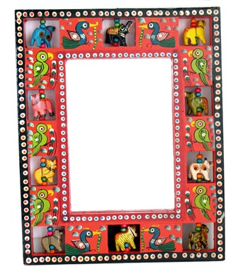 Painted Animal Frame Mirror