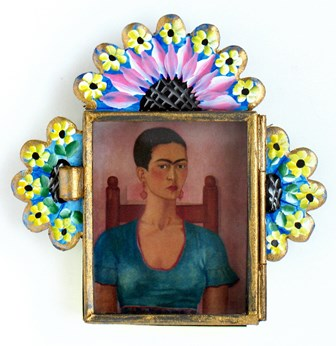 Painted Nicho with Frida Image