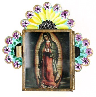 Painted Nicho with Virgen Image