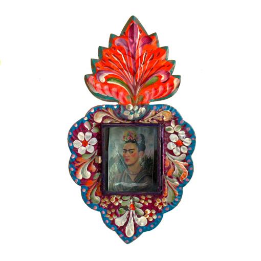 Painted Sacred Heart Nicho