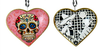 Papel Picado Heart Ornament