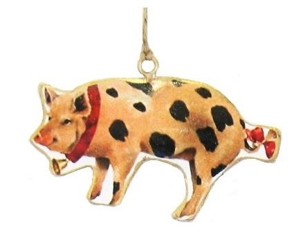 Pig with Bells Ornament