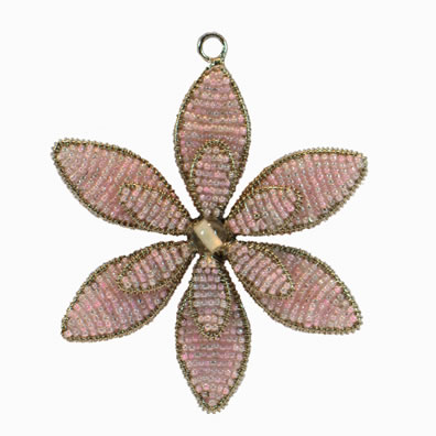 "4"" Pink Flower Ornament"