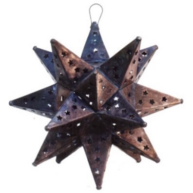 Tin Moravian Star Lamp in 3 Sizes