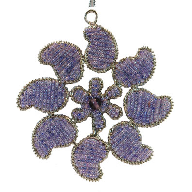 "4"" Purple Paisley Ornament"