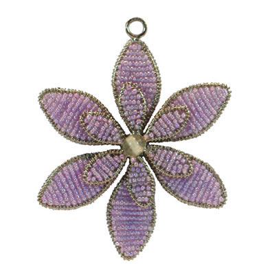 "4"" Purple Flower Ornament"