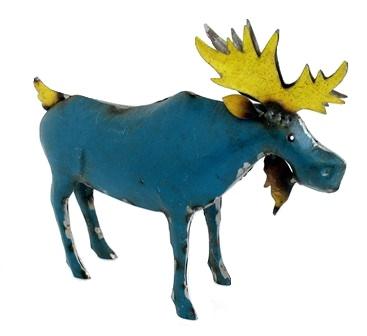 Recycled Metal Blue Moose