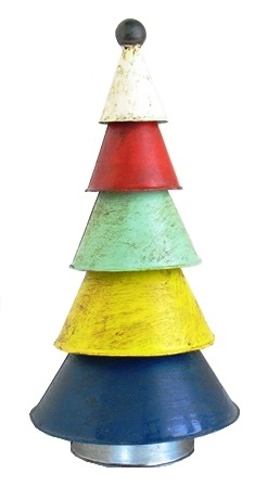 Recycled Metal Cone Xmas Tree