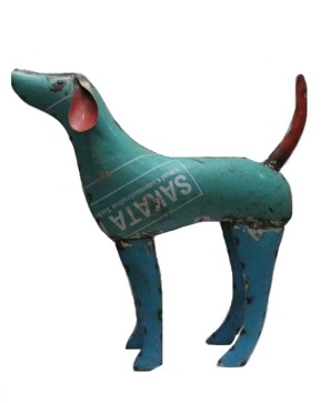 Recycled Metal Dog