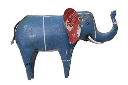Recycled Metal Elephant