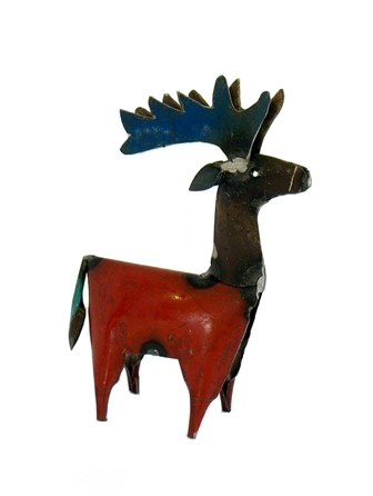 Recycled Metal Reindeer