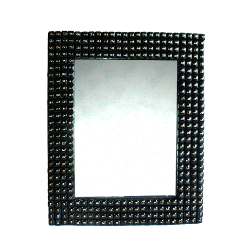 Recycled Telephone Keys Mirror