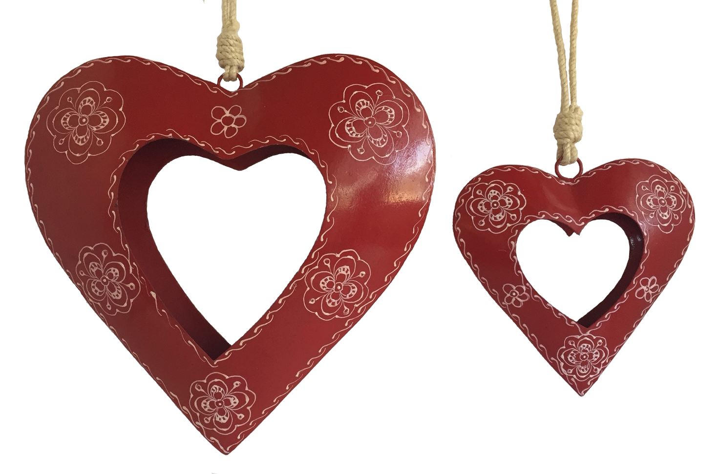 Red Open Heart Ornament