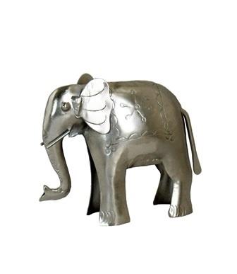 Silver Elephant Figure