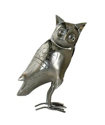 Silver Owl Figure