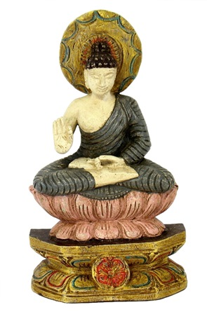 Sitting Buddha On Double Lotus