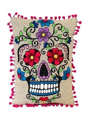 Skull Rectangle Pillow
