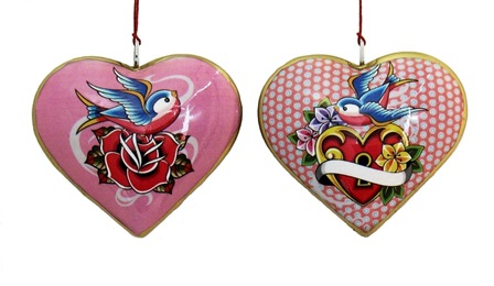 Sweet Bird/Lock Heart Ornament