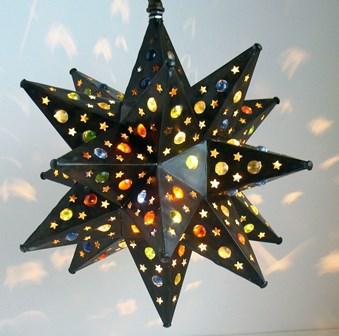 Tin Moravian wth Marble Star
