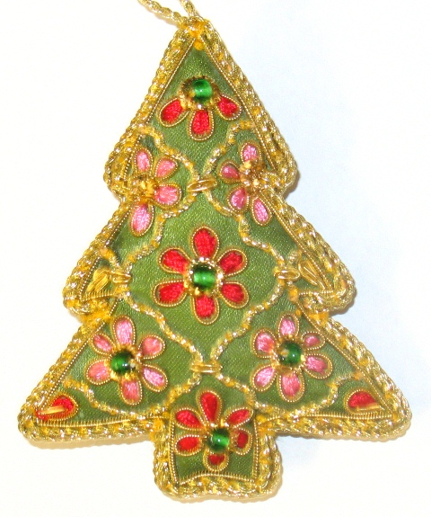 "3"" Embroidered Tree Ornament"
