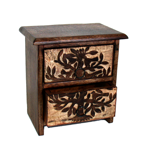 Tree With Birds 2 Drawer Chest
