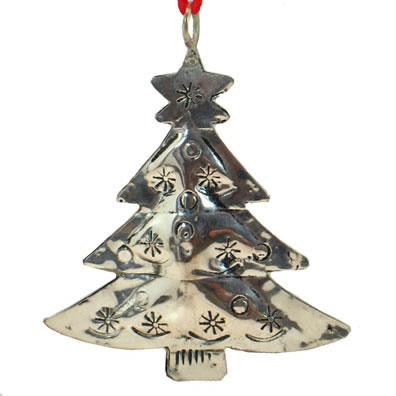 "3"" Metal Tree Ornament"