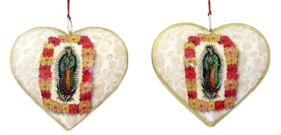 VirgIn Estampa Heart Ornament