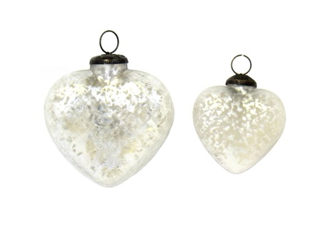Pearl Waffle Heart Ornament
