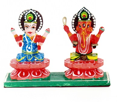 Laksmi and Ganesh Sitting Figure