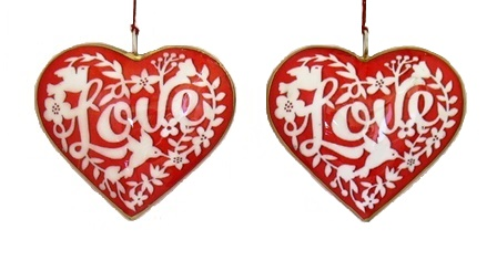 """Love"" Heart Ornament"