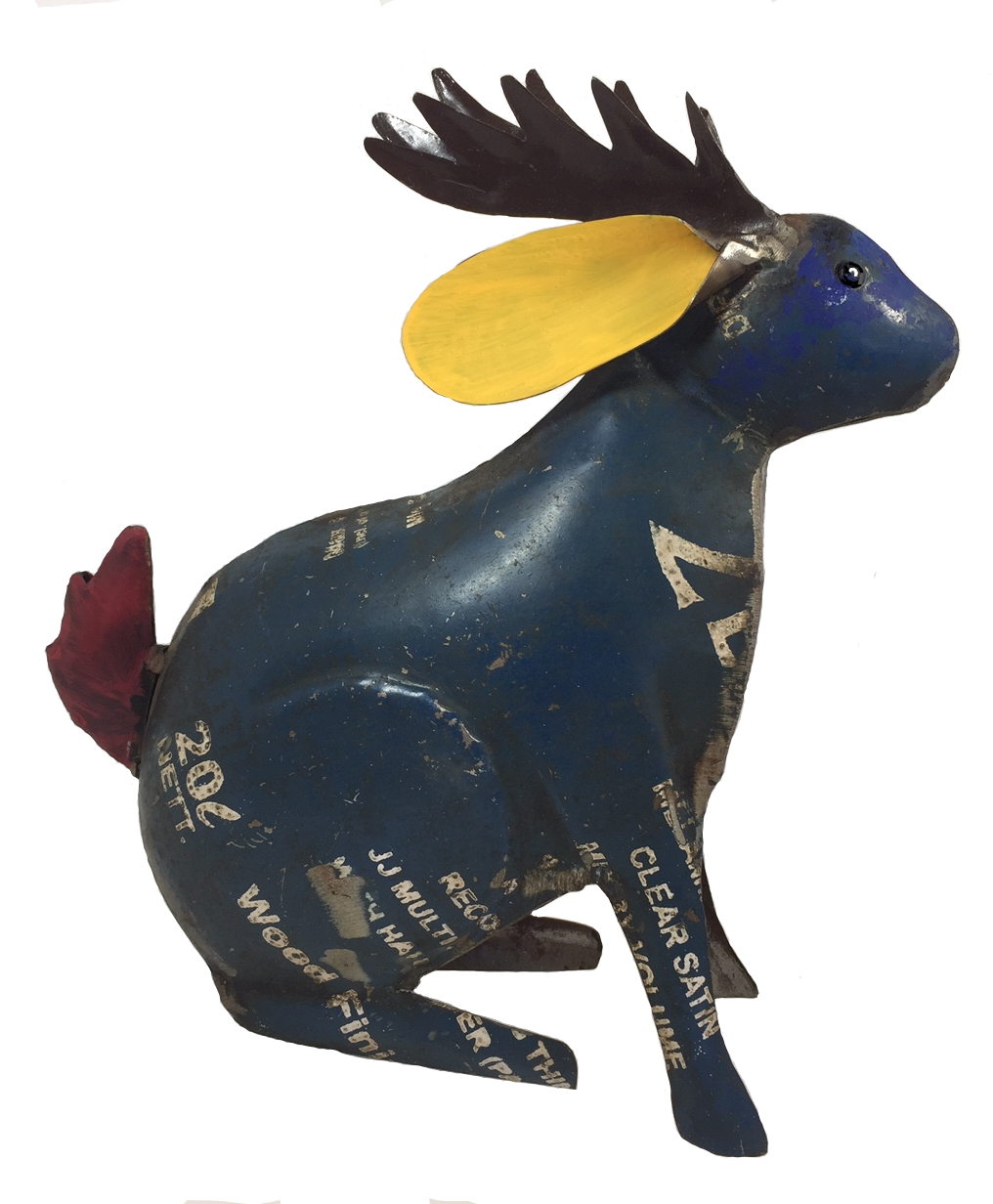 Recycled Blue Jackalope