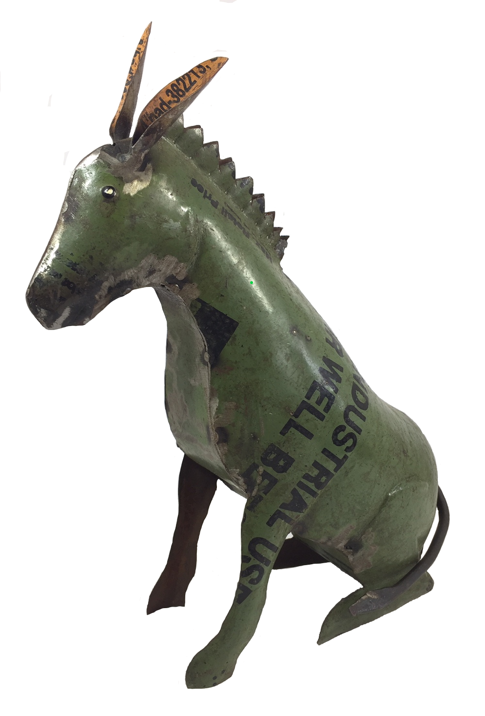 "Recycled sitting Donkey(10"") Min. 2. Price per pie"