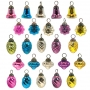 """1"""" Pastel II Mini Glass Ornament Assortment"""