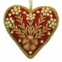 """3.5"""" Embroidered Heart Ornament"""