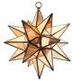Antiqued Mirror Moravian Star Lamp in 3 Sizes