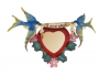 Bluebird Heart Mirror