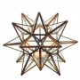 Clear Glass Moravian Star for Tealight in 3 Sizes