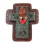 Double Sacred Heart Cross
