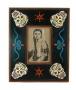 Folk Art Painted Skull Frame